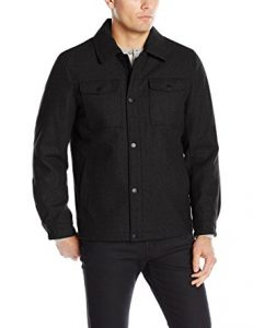 picture of Nautica Men's Wool Melton Snap Front Jacket Sale