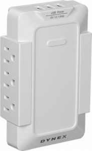 picture of Dynex 6-Outlet, 3-USB-Port Power Hub Sale