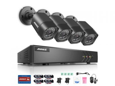 picture of ANNKE 8CH Security System with 4 Cameras