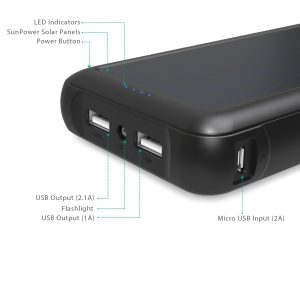picture of AUKEY 20000mAh Solar Charger Portable Battery Sale