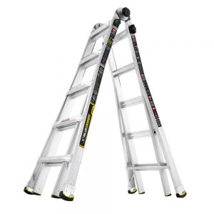 picture of Gorilla Ladders 22 ft. MPX Aluminum Telescoping Multi-Position Ladder