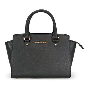 picture of Michael Kors Selma Medium Leather Satchel Sale