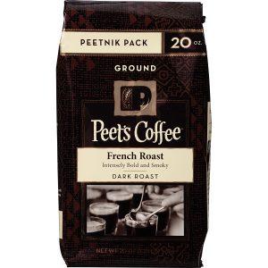picture of Peet's Coffee Peetnik Pack French Roast Ground 20oz. Bag
