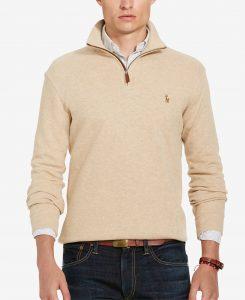 picture of Ralph Lauren Men's Estate Rib Half Zip Sweater Sale