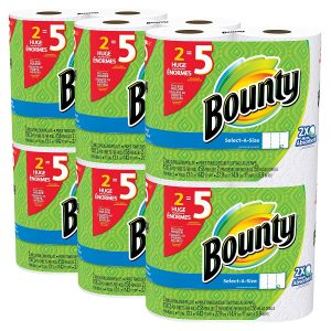 picture of Bounty Select-A-Size White Paper Towels 12 Huge Rolls