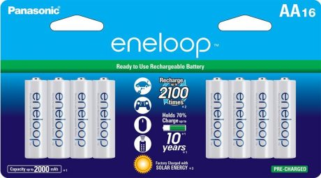picture of Panasonic Eneloop 16 Pack AA Ni-MH Rechargeable Batteries Sale
