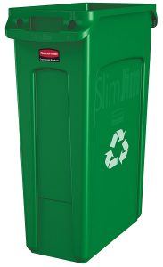 picture of Rubbermaid Commercial Slim Jim Recycling Container