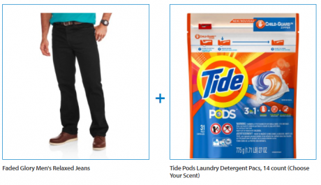 picture of Faded Glory Men's Relaxed Jeans and Tide Pod Value Bundle