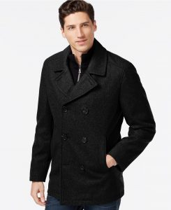 picture of INC Concepts Double-Breasted Peacoat Sale