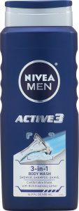 picture of NIVEA Men Active3 3-in-1 Body Wash 16.9 Fluid Ounce (Pack of 3) Sale