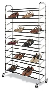 picture of Whitmor 50 Pair Rolling Shoe Rack Sale