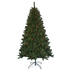 picture of 6.5ft Pre-Lit Artificial Christmas Tree Sale