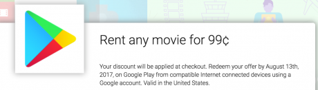 picture of $0.99 Google Play Movie