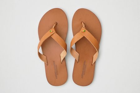 picture of Aeo Folded Strap Leather Flip Flop Sale