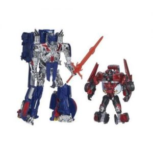 picture of Transformers Age Of Extinction Generations Leader Class Optimus Prime/Sideswipe