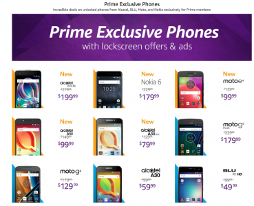 picture of Prime Exclusive Phones with Lockscreen Offers
