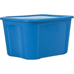 picture of Staples/Bella 18 Gallon Plastic Flat Lid Tote Sale