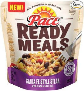 picture of 6-pk Pace Ready Meals Santa Fe Steak Beans and Rice Sale