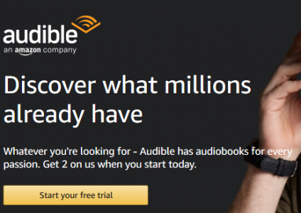 picture of New Audible Annual Membership - Save $30 - Echo Dot for $0.99