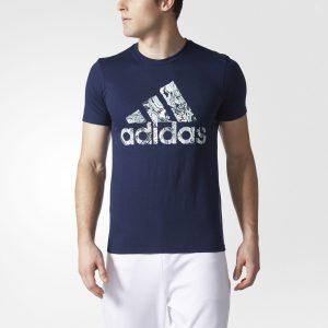 picture of adidas Badge of Sport Fluid-Print Tee Men's Blue Sale