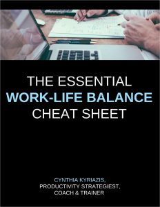picture of Free Cheat Sheet: The Essential Work-Life Balance