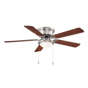 picture of Hugger 52 in. Brushed Nickel Ceiling Fan Sale