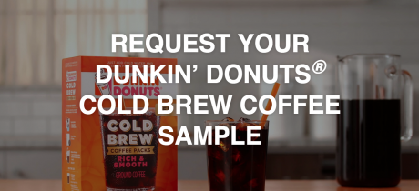 picture of Free Dunkin Donuts Sample Pack of Cold Brew Coffee
