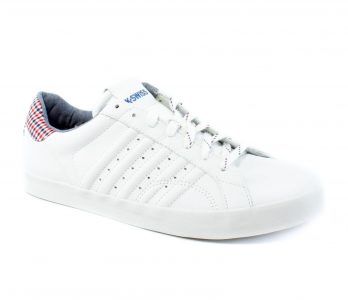 picture of K-Swiss Classic Belmont Plaid White Casual Sneakers