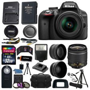 picture of Nikon D3300 DSLR Camera 3 Lens Kit Sale