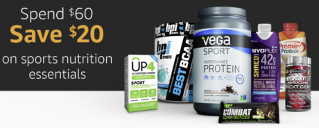 picture of $20 off $60 in Sports Nutrition