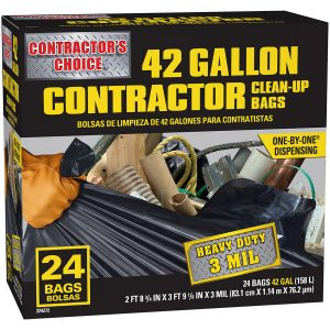 picture of Contractor's Choice 24-Count 42-Gallon Outdoor Construction Trash Bags Sale