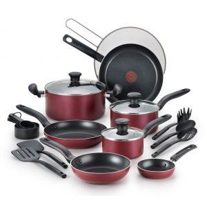 picture of Kohls Cardholders - T-Fal Reserve 20-pc. Nonstick Aluminum Cookware Set