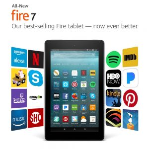 "picture of Amazon Fire 7"" 16GB Wi-Fi Tablet with Alexa Sale"