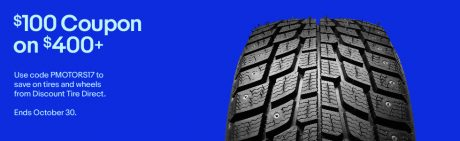 picture of Discount Tires $100 off $400 on Tires or Wheels