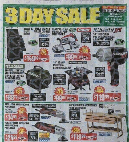 Harbor Freight Black Friday 2017 Ad Scans - BuyVia