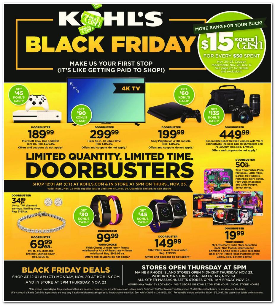 Kohl S Sales This Weekend: Black Friday 2017: Kohl's Ad Scan