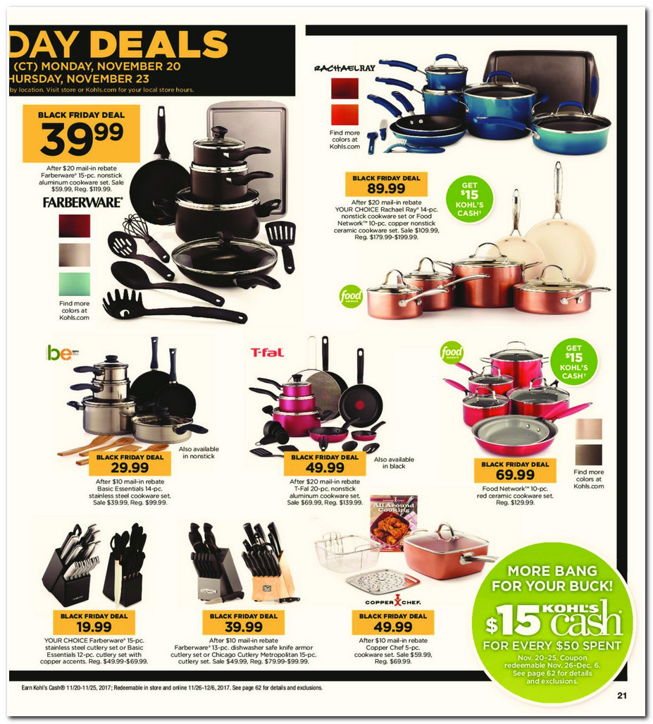 Kohl's thanksgiving deals 2018