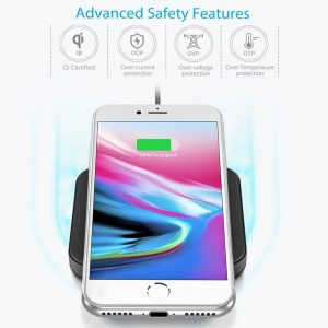 picture of CHOETECH Qi Certified Wireless Charger Pad Sale - iPhone 8, 8+, X