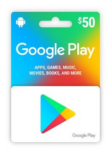 picture of 20% off Google Play $50 Gift Card via Email
