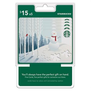 picture of Discounted Starbuck's $75 Value Gift Cards