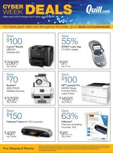 cyber monday 2017 quill ad scan buyvia. Black Bedroom Furniture Sets. Home Design Ideas