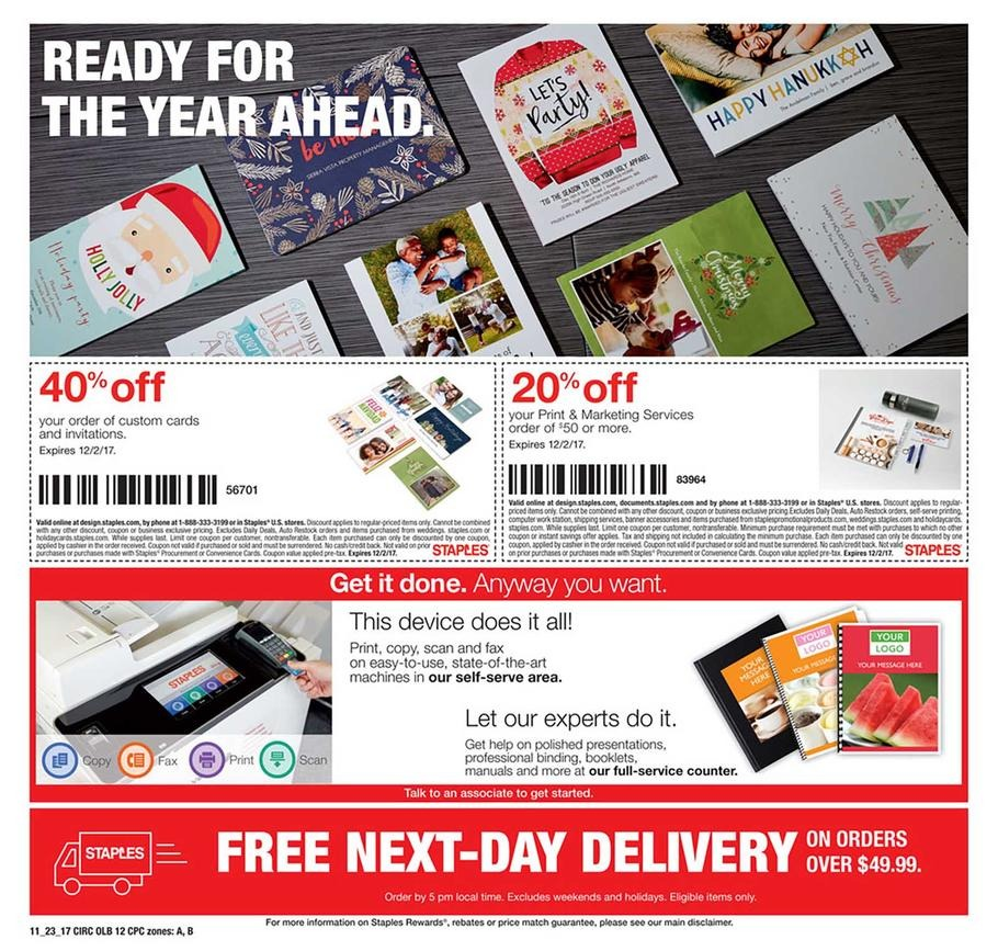 Staples Black Friday 2017 Ad