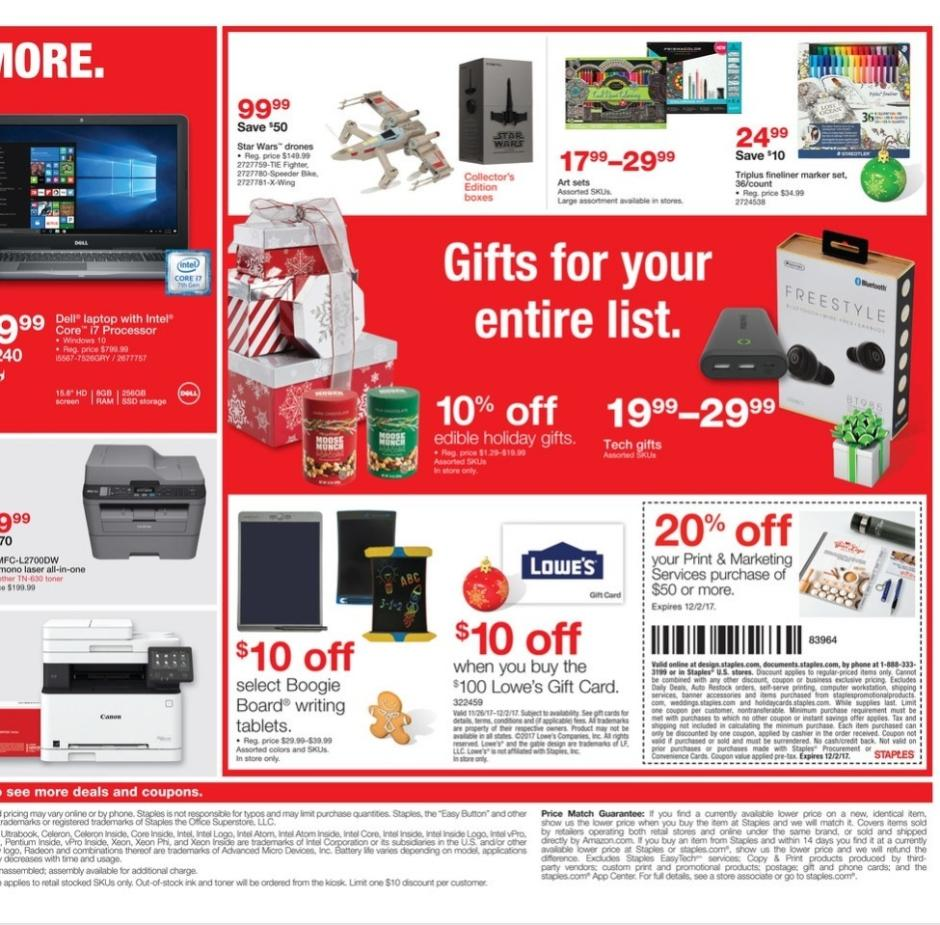 cyber monday 2017 staples ad buyvia. Black Bedroom Furniture Sets. Home Design Ideas