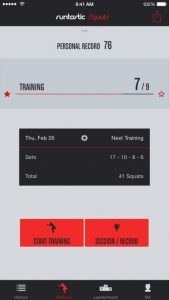 picture of Free Runtastic Squats App iOS and Android