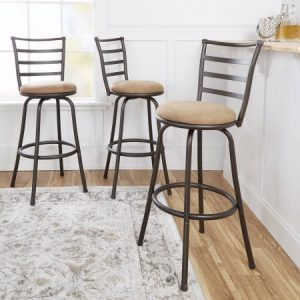 picture of Mainstays Adjustable-Height Swivel Barstool Set of 3 Sale