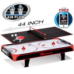 picture of MD Sports 44 inch Air Powered Hockey Table Top with Table Tennis Top