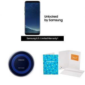 picture of Samsung Galaxy S8+ Unlocked Sale - Free $100 Amazon Gift Card, Charge Pad