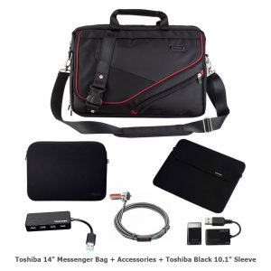 picture of Toshiba Messenger Bag Backpack with Accessories Bundle