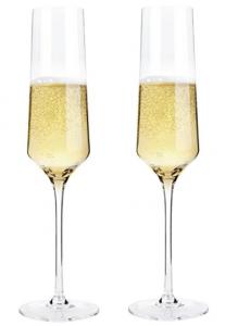 picture of Bella Vino Crystal Champagne Flute Glasses Sale