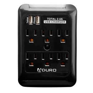 picture of Aduro Charging Station Surge with 6 Outlets, 2 USB